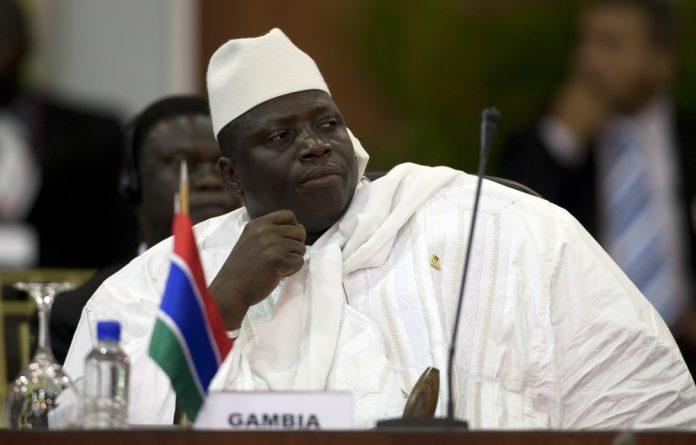 Gambia's former president Yahya Jammeh.