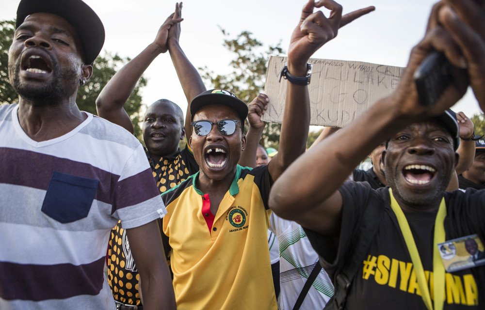 War cry: Data was used to garner support for Cyril Ramaphosa's bid for the ANC presidency