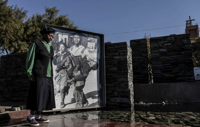 Loaded: Sam Nzima's photograph is used to officially commemorate the June 16 uprisings and the author argues it has layer upon layer of meaning.
