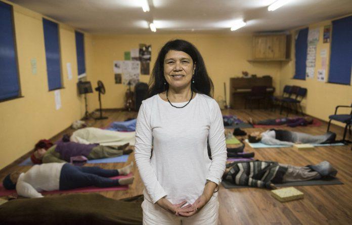Rosaline Nyman teaches yoga in Hanover Park.