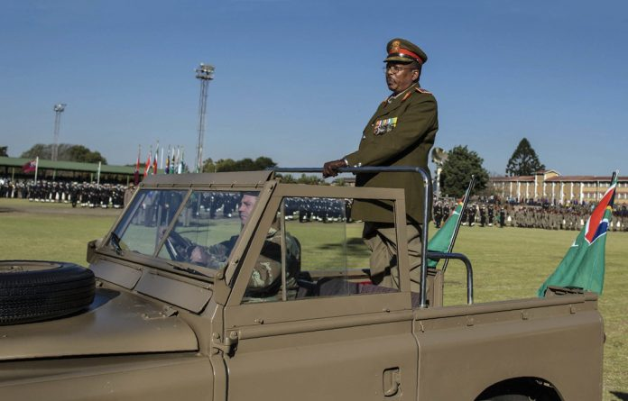 Miffed: The army's top brass argued that procurement law does not recognise General Solly Shoke even though he commands soldiers and materials for war worth billions of rands.