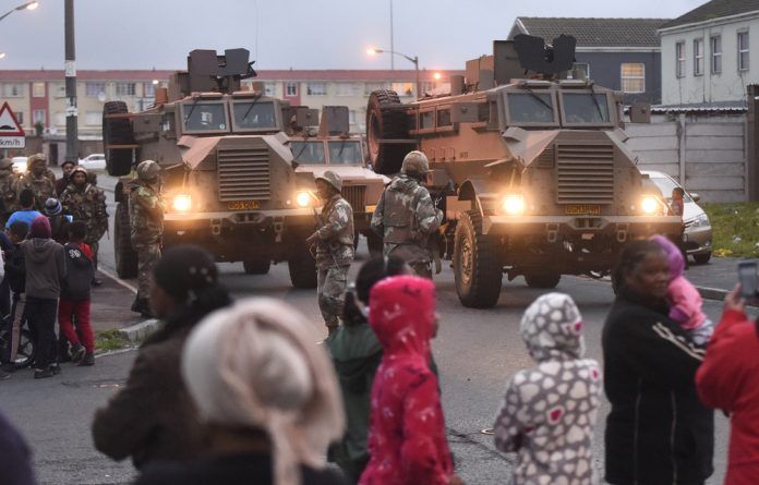 The South African military has moved into the Cape Flats to help the police control gang activities