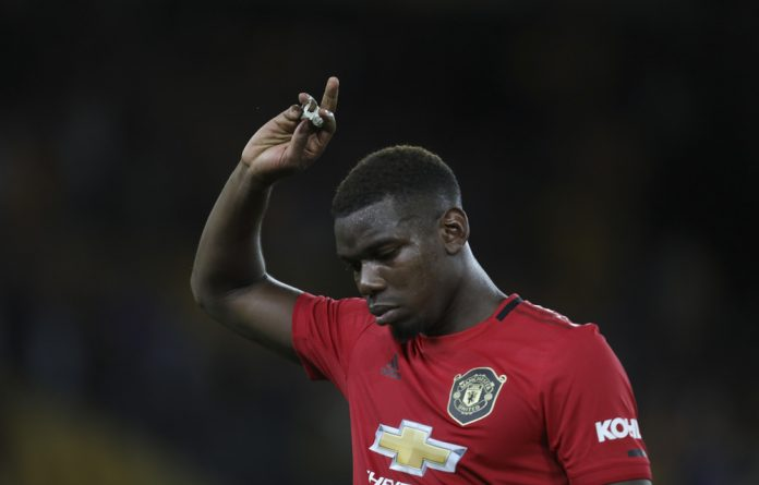 Paul Pogba was targeted after his penalty was saved in United's 1-1 draw at Wolves on Monday.