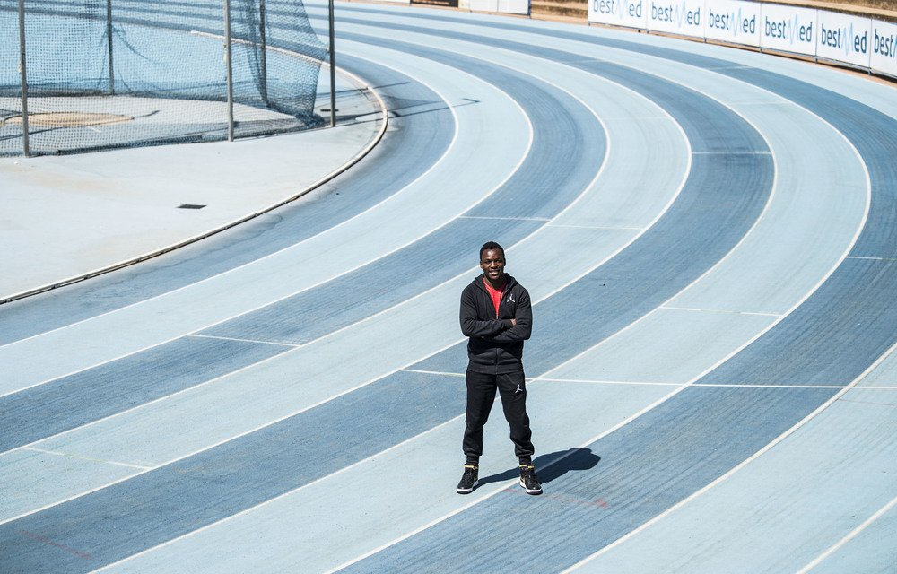 King of the track: Clarence Munyai is the South African record holder for the 200m sprint. At just 21 years old
