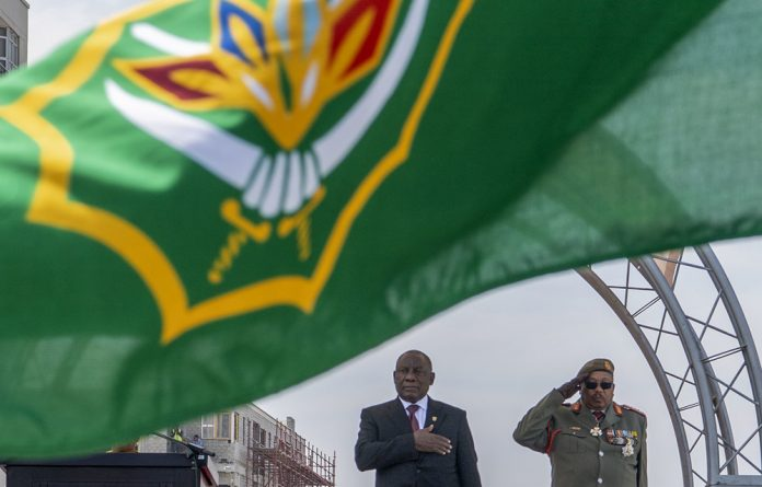 Top brass: The South African National Defence Force's General Solly Shoke