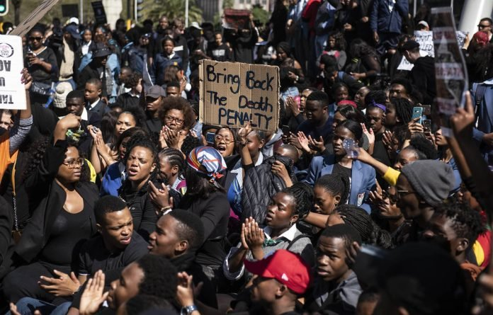 Challenge: Anger followed the murder of student Uyinene Mrwetyana