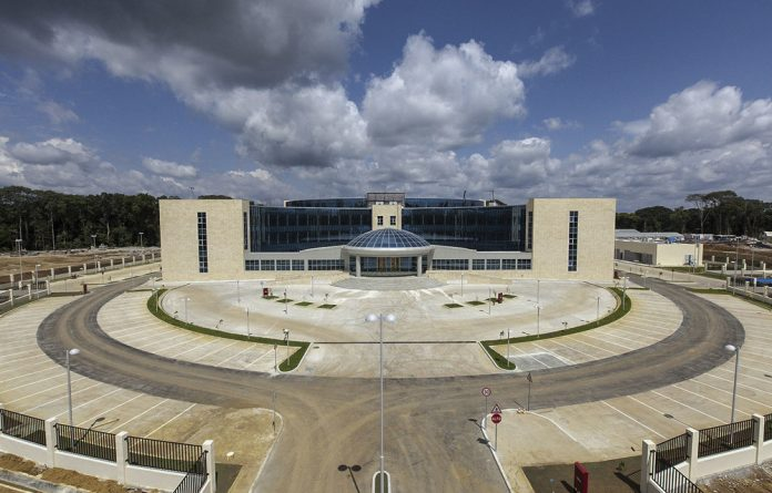 All that glitters: Equatorial Guinea has spent millions of dollars on infrastructure such as the Oyala government palace.