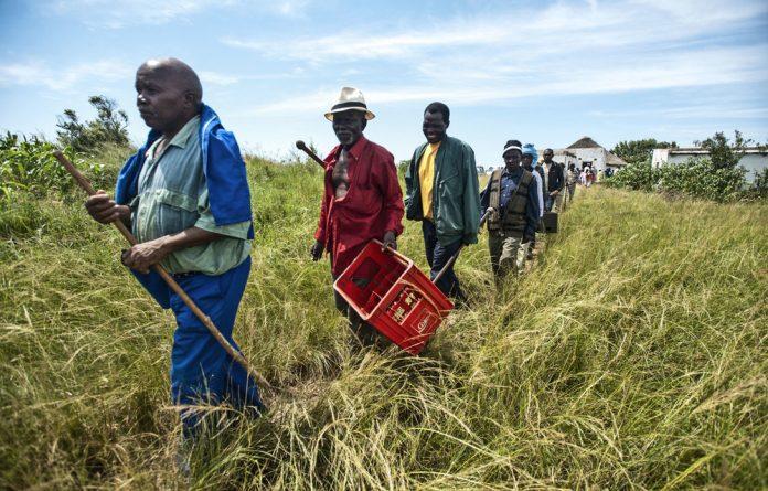 Steadfast: The Xolobeni residents have