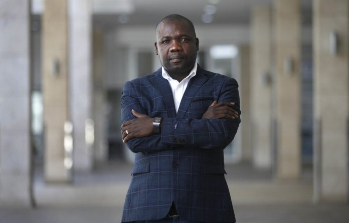 Hitting the roof: Mphedziseni Makhesha was so exasperated with the department of trade and industry's delay in paying a grant they awarded him