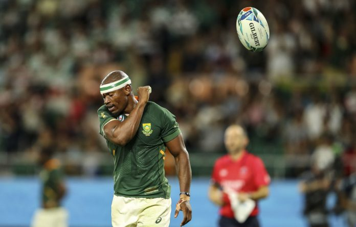 In the air: The Springboks have made good gains