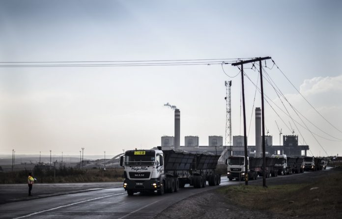 Carrying coal: Parliament reported that Kusile