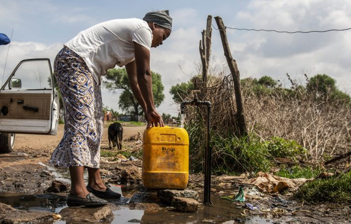 Water inequality: Water use in Gauteng is 297 litres per person a day. The law says people have a right to 25 litres.