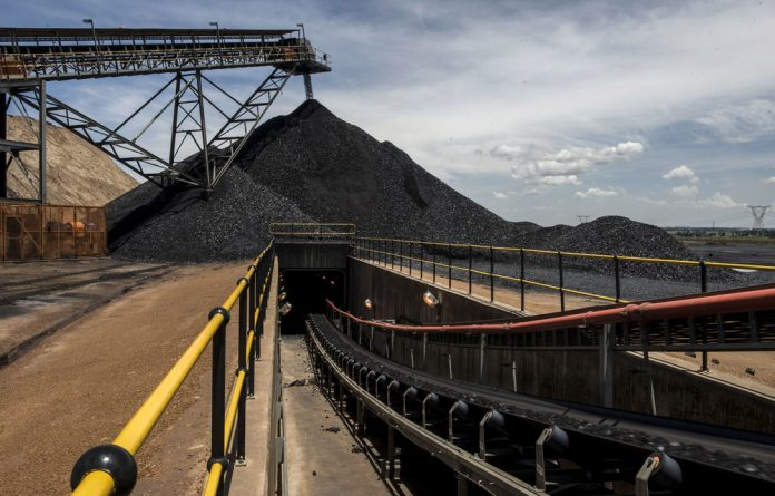 On the coal face: Eskom's maintenance has fallen by the wayside under political pressure. Plant breakdowns and coal supply problems put the grid under strain and necessitate load-shedding. Photo: Paul Botes