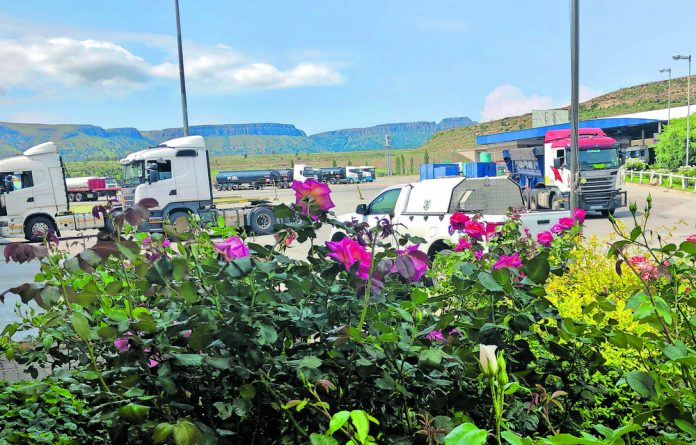 Picturesque view of the Highway Junction Truck Stop in Harrismith.