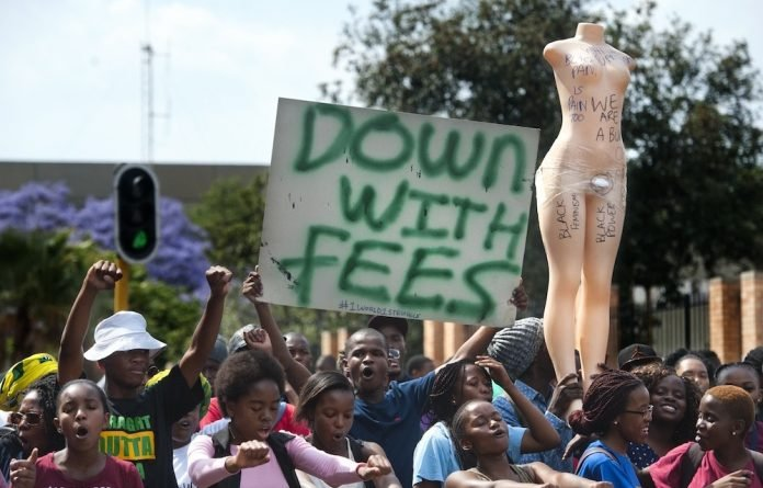 The #FeesMustFall protest of 2015 began as a protest by students against fee increases at institutions across the country.