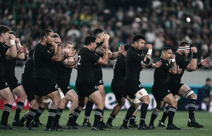 New Zealand's haka before they destroyed Ireland in the quarter final of the Rugby World Cup.