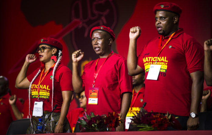 On the second day of the EFF's National People's Assembly on Saturday