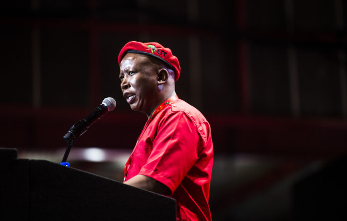"Malema said the EFF leadership had given clear instructions to both the security and members of SAPS ""to behave in a manner that would show respect to delegates"