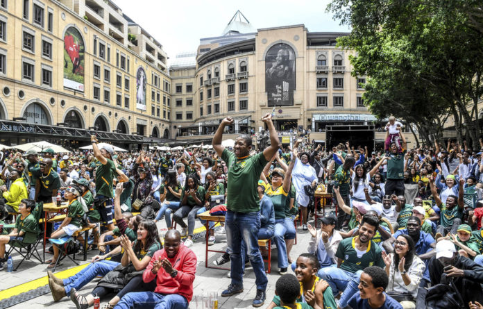Magic touch: The Springboks' victory in the Rugby World Cup saw the nation united in celebration – from affluent Sandton in Gauteng to Siya Kolisi's impoverished hometown of Zwide in the Eastern Cape.
