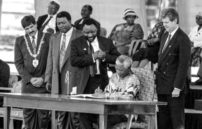 New era: Nelson Mandela