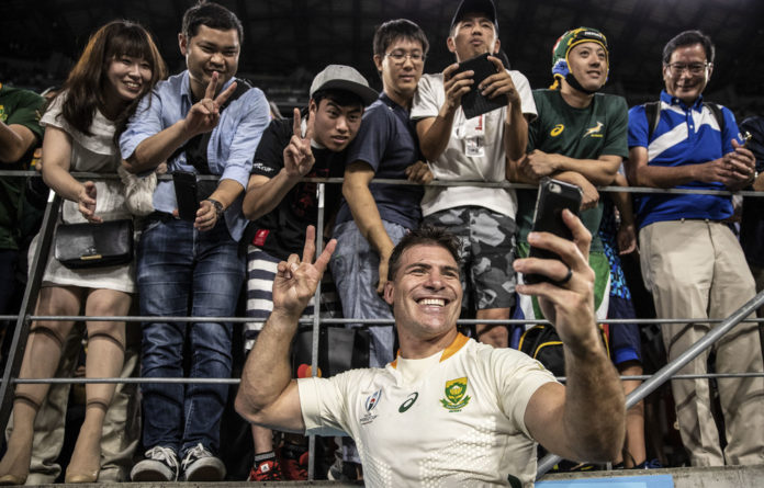 Springbok hooker Schalk Brits captained the Springboks in the Rugby World Cup against Canada and Namibia.