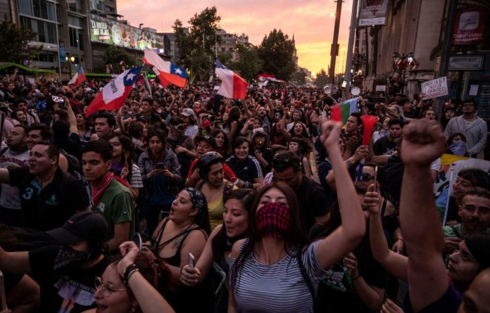 Chileans demonstrate against social inequality.