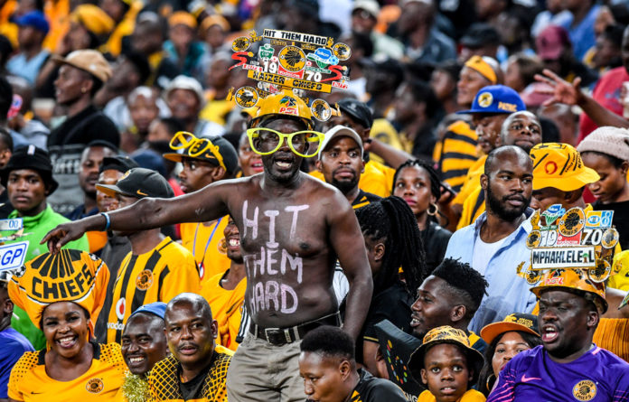 Proud supporters: Kaizer Chiefs chase down the Absa Premiership as the club turns 50 years old in 2020.
