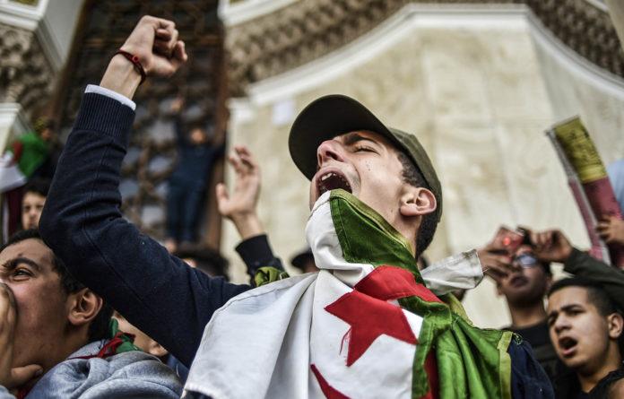 Continental drift: Algerians  demonstrate against Abdelaziz Bouteflika's bid for a presidential fifth term.