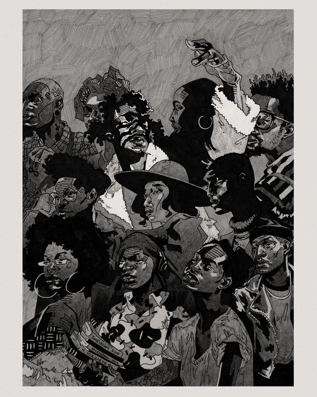'Mountains iii' (2019) is taken from Pola Maneli's exhibition 'An Indigenous I/Eye'