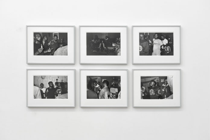 An installation view of Sabelo Mlangeni's 'The Royal House of Allure' exhibition at blank projects