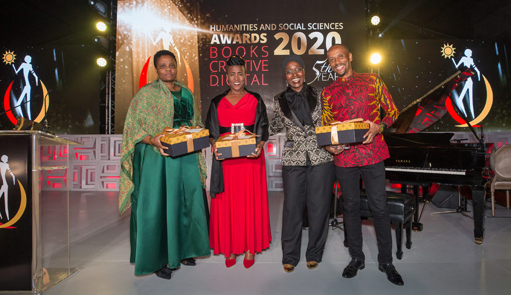 "Black Academic Voices – The South African Experience"", by Grace Khunou, Hugo Canham, Katijah Khoza-Shangase and Edith Dinong Phaswana, was the deserving winner for the Best Non-Fiction: Edited Volume Award. (Courtesy of NIHSS)"