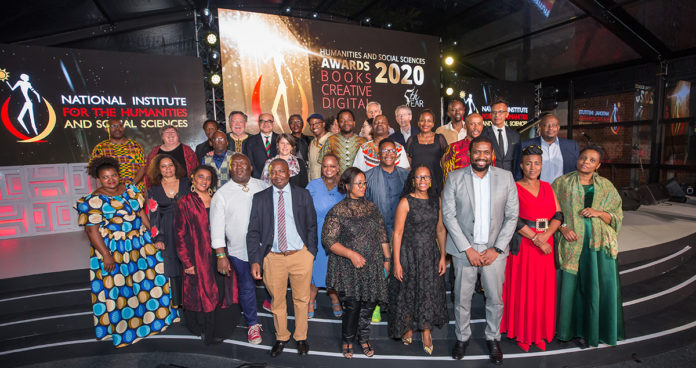 The fifth installation of the Humanities Awards 2020, held on March 12 2020 and hosted by the NIHSS took place at Constitution Hill Human Rights Precinct, Parktown, Johannesburg. Here the winning HSS scholars and the judging panel flank NIHSS chief executive, Professor Sarah Mosoetsa, and Deputy Minister of Higher Education, Science and Technology, Buti Manamela. (Courtesy of NIHSS)
