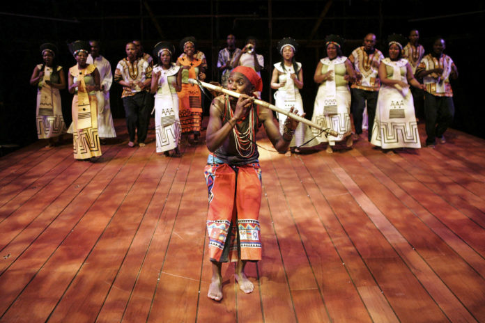 Students performing Magic Flute by Nolufefe Mtshabe