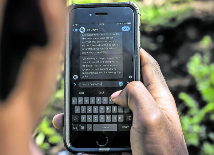 Today there are many apps that enable direct video consultations with doctors or provide automated responses to a user's questions about symptoms and treatment. (Cyril Ncube)