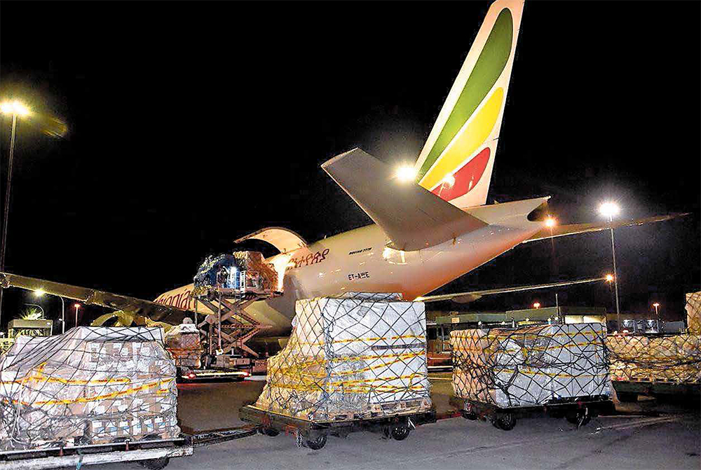 A batch of Chinese medical supplies arrives at OR Tambo International Airport, to support South Africa's fight against Covid-19