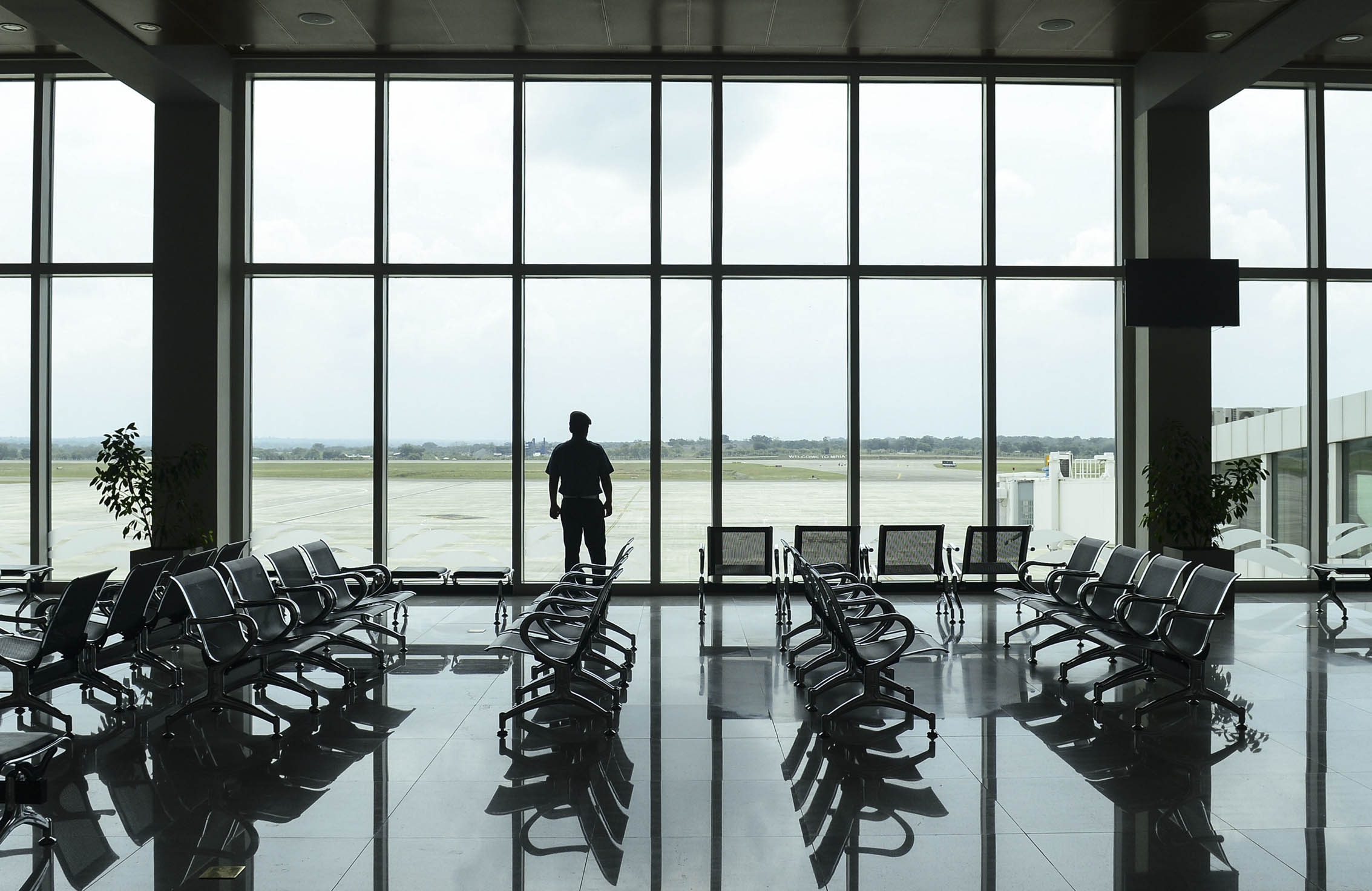 Plane empty: Hambantota's ghostly airport was built by the same Chinese firm that has now landed a plum local contract. Photo: Lakruwan Wanniarachchi/AFP/Getty Images