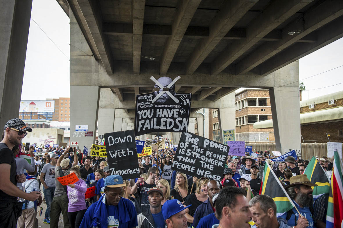 Bridge over troubled marchers: Sipho Hlongwane argues that the Democratic Alliance should not have drawn the conclusion that Bell Pottinger's shenanigans broke the country. Photo Delwyn Verasamy