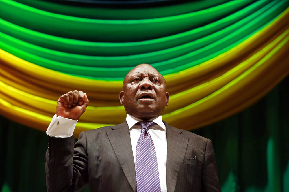 Cyril Ramaphosa at a political discussion and debate themed How can we preserve the legacy of former President Nelson Mandela? in Durban on July 16 2014. Rajesh Jantilal, AFP