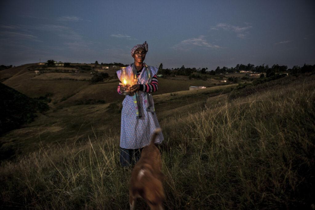 Nokothula Zimbambele outside her home in Lusikisili, Eastern Cape (Photo: Paul Botes)